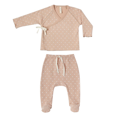 quincy mae kimono footed baby set