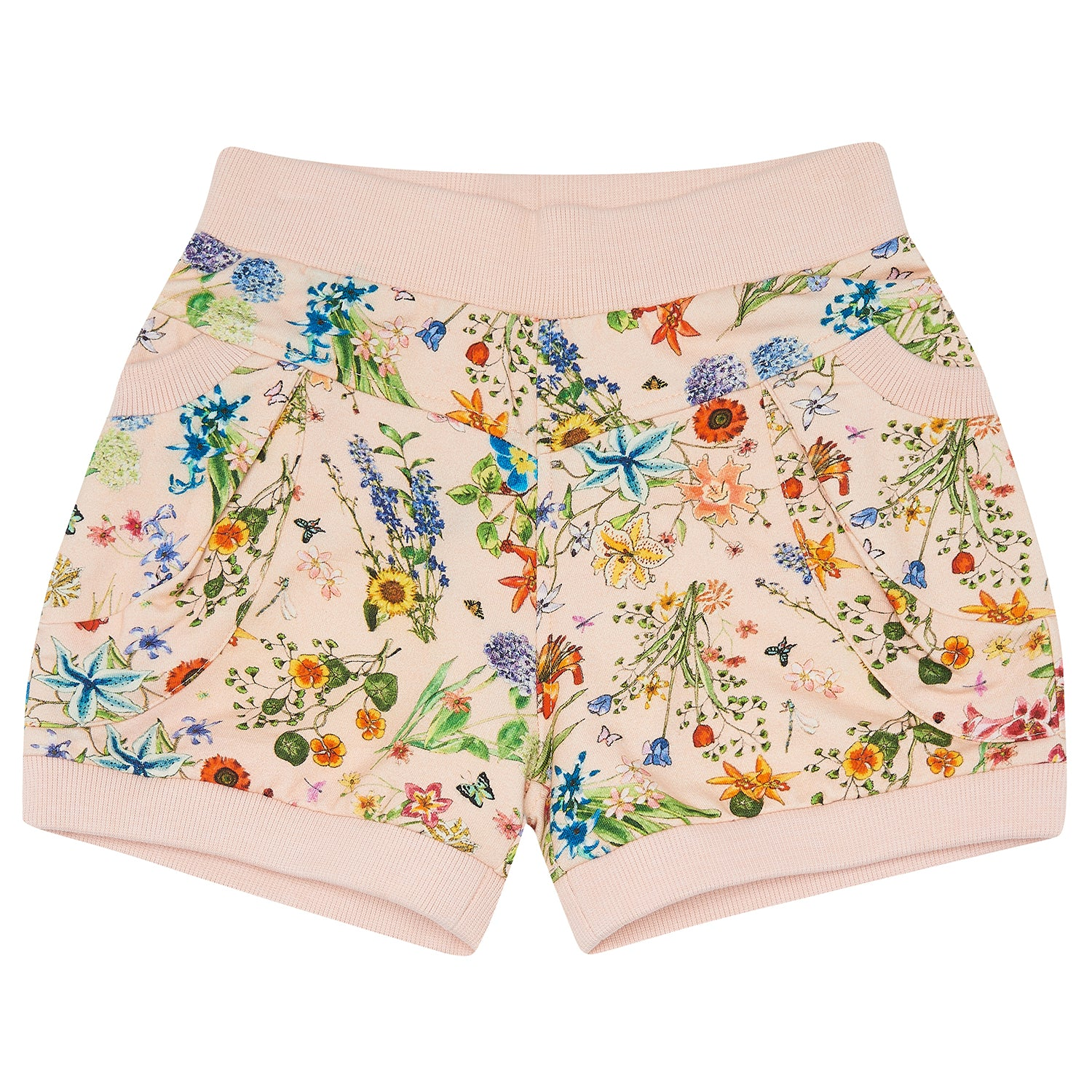 yoya, kids, girls, the middle daughter, summer, lightweight, casual, graphic print, floral, elastic waist, pull on shorts