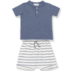 yoya kids and baby one more in the family baby boy blue set summer casual