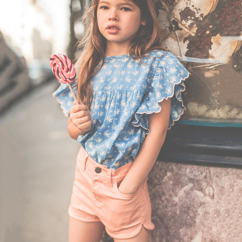 yoya, kids, girls, louis louise, casual, summer, button zip fly, denim shorts