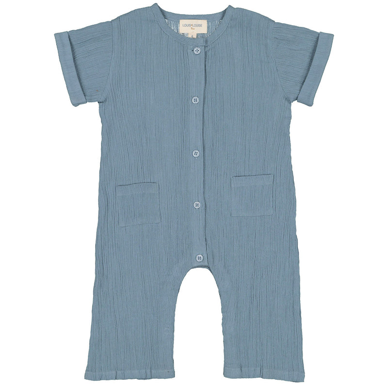 yoya, kids, baby, boys, girls, louis louise, casual, summer, creped cotton, button front, coverall, jumpsuit