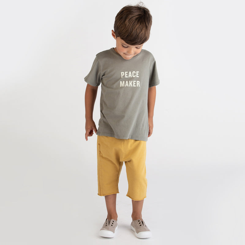 yoya, kids, boys, girls, go gently nation, casual, summer, slogan, short sleeved tshirt