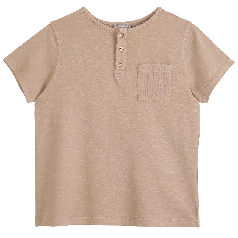 yoya, kids, boys, emile et ida, casual, basic, pocket, t-shirt