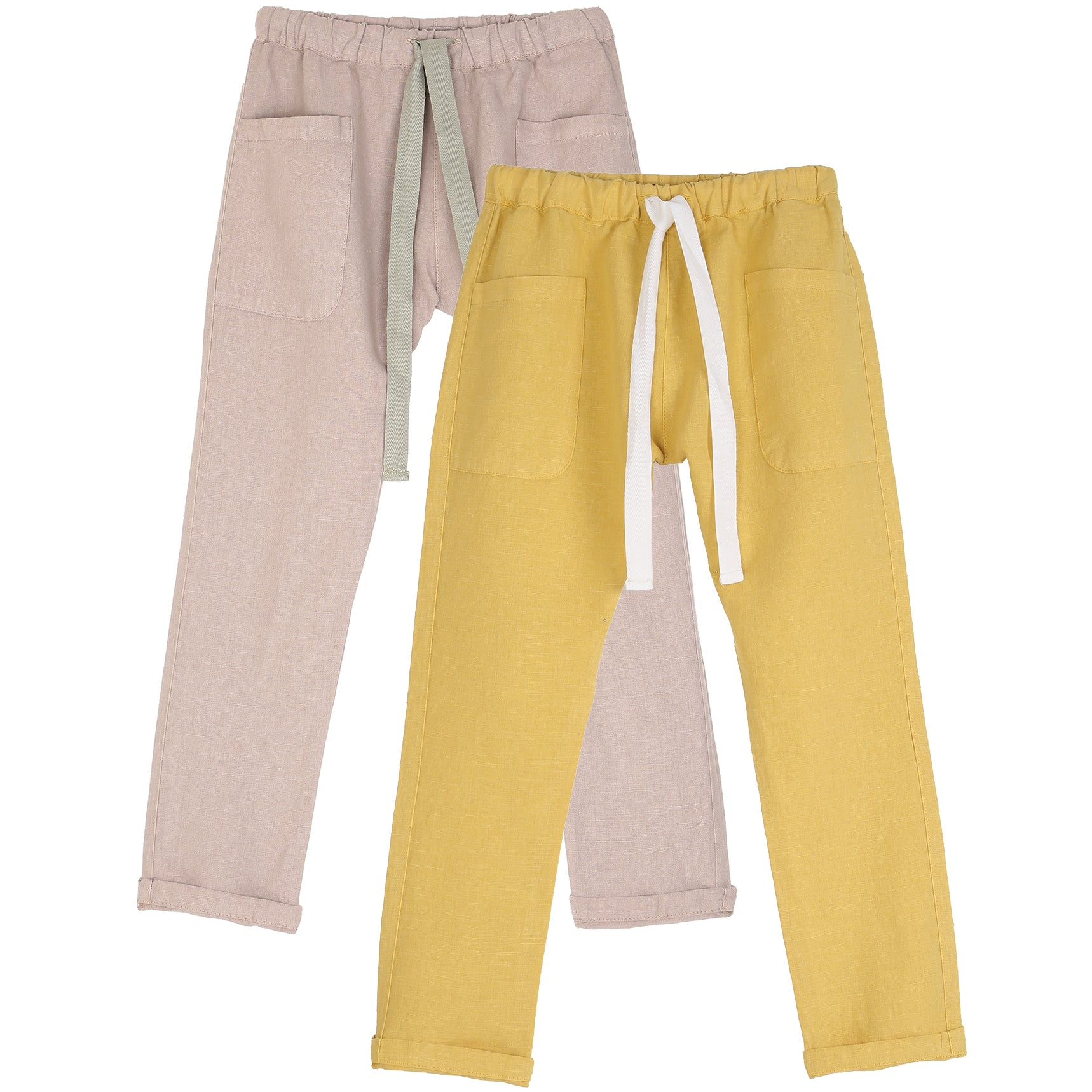 yoya, kids, boys, girls, emile et ida, lightweight, linen, summer, drawstring, pants