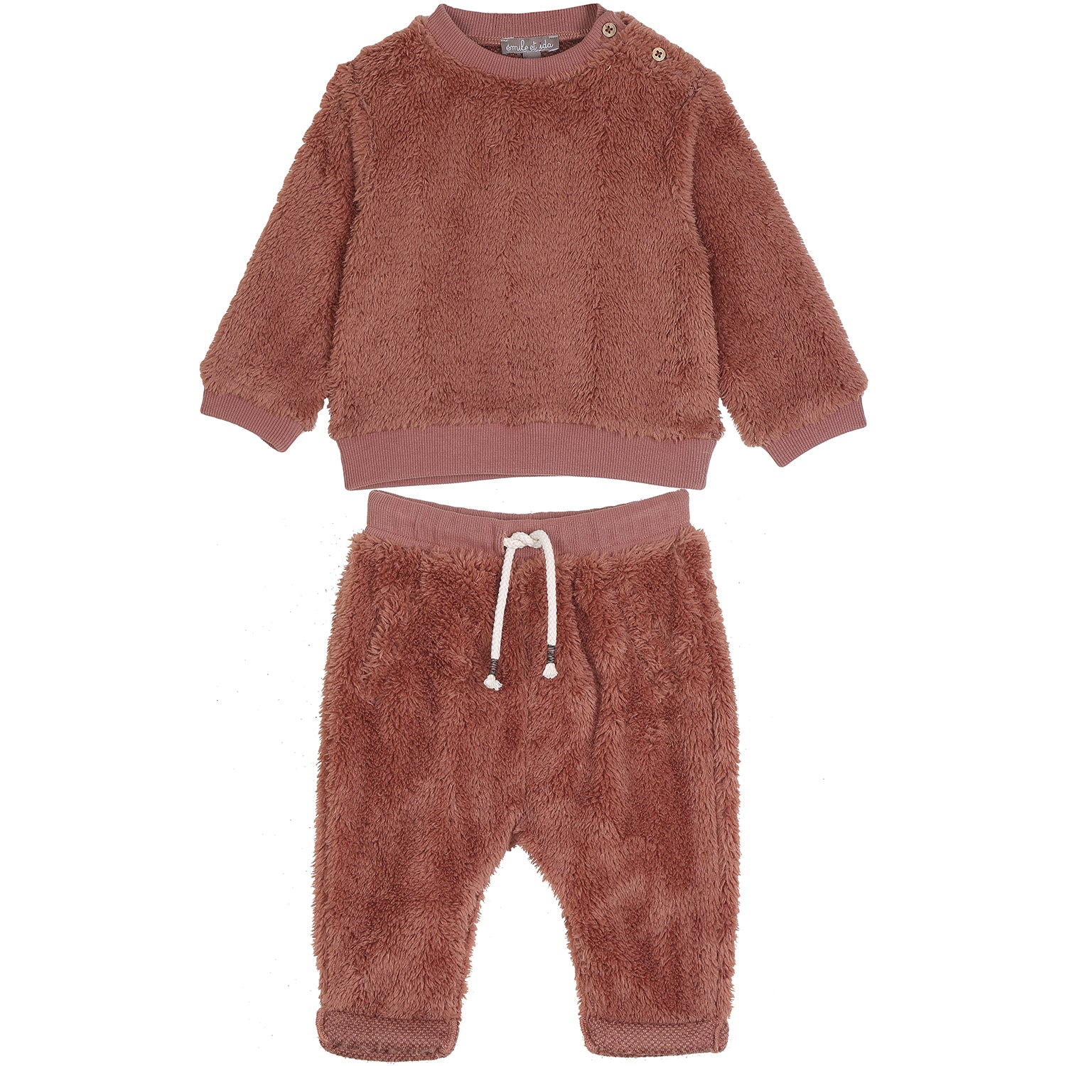 emile et ida faux fur sweat suit