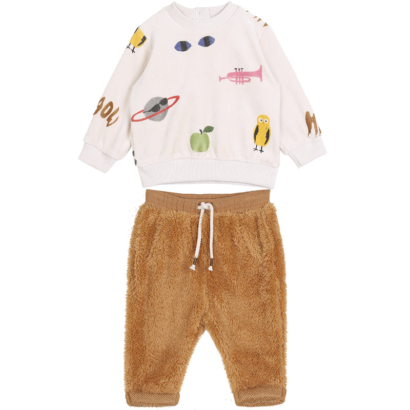 emile et ida graphic sweatshirt baby set