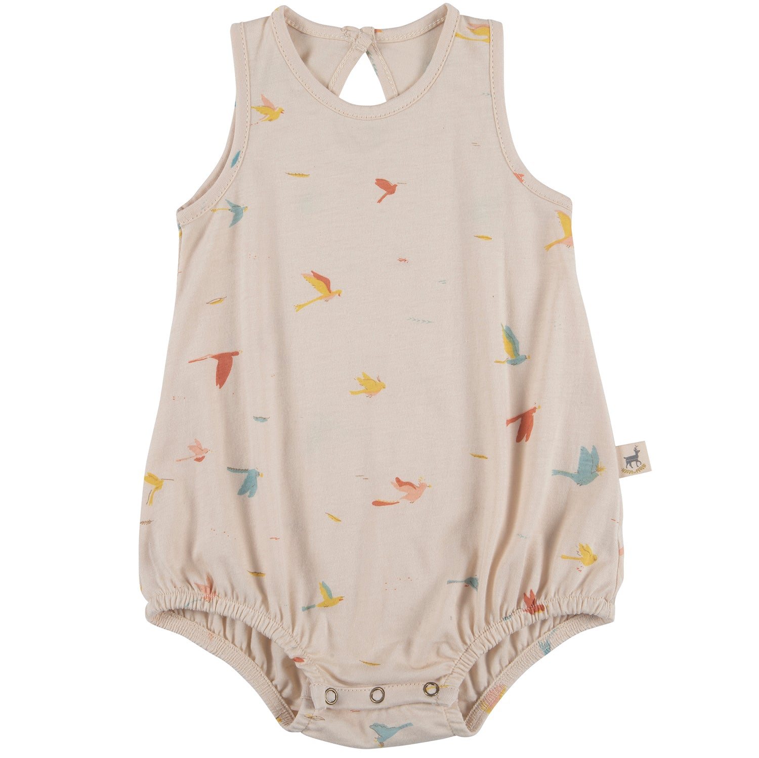 yoya, kids, baby, boys, girls, red caribou, summer, casual, lounge, graphic printed, sleeveless, tank top, baggy onesie
