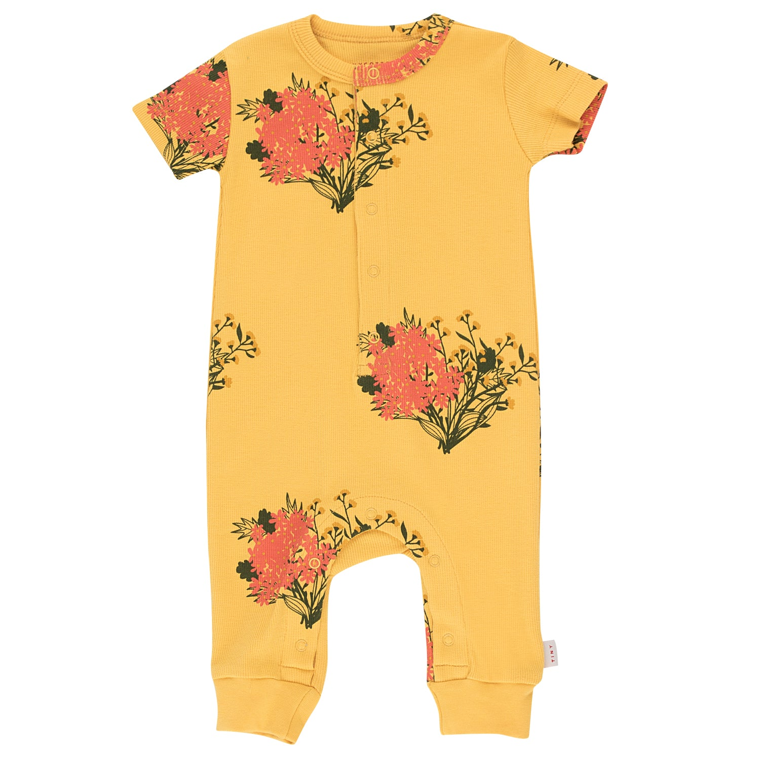 yoya, kids, baby, girls, tiny cottons, summer, lightweight, casual, graphic printed, short sleeved, onesie bodysuit