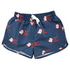 yoya, kids, boys, girls, tiny cottons, summer, lightweight, casual, graphic printed, drawstring, swim trunks, bathing suit,
