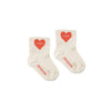 tiny cottons heart quarter baby socks