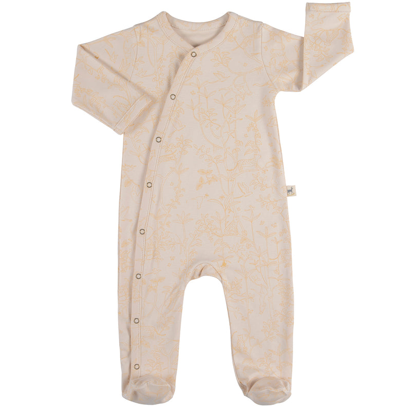 yoya, kids, baby, boys, girls, red caribou, summer, lightweight, layer, footed, long sleeve, snap up, onesie, pajamas