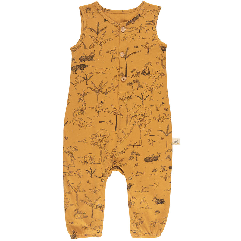 yoya, kids, baby, boys, girls, red caribou, summer, lightweight, graphic printed, casual, lounge, sleeveless, tank top, romper, onesie, pajama