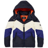 scotch shrunk color block jacket with hood