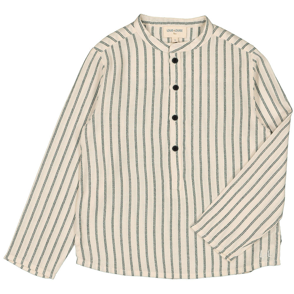 louis louise grand pere band collar shirt