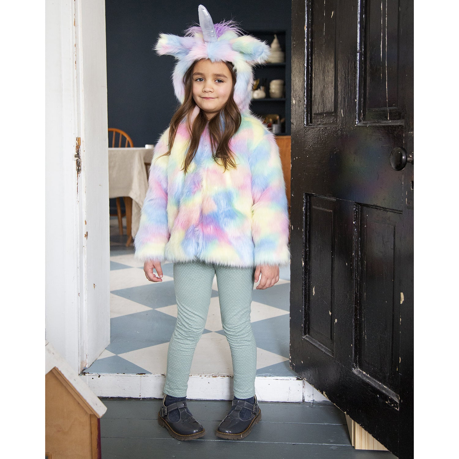 siaomimi play unicorn fur coat