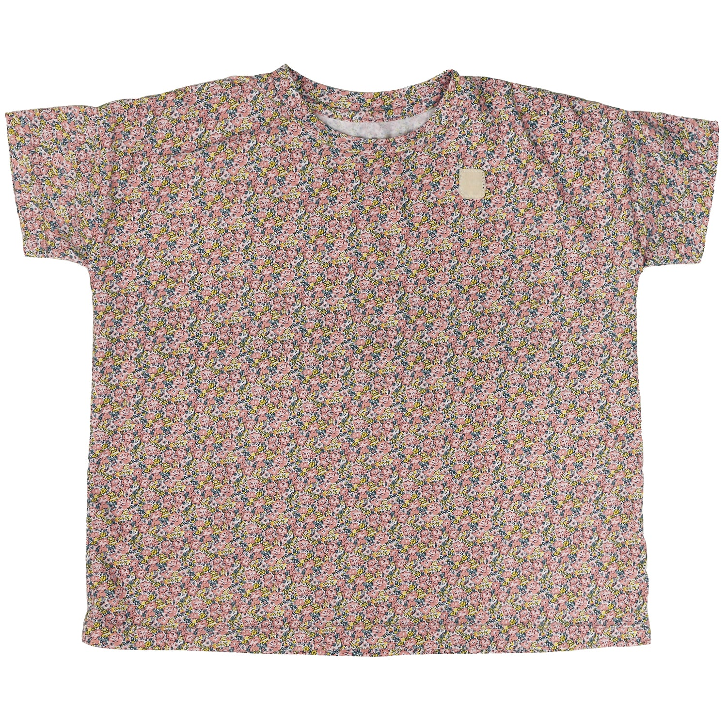 yoya, kids, girls, tambere, summer, lightweight, casual, lounge, floral print, short sleeved, tshirt