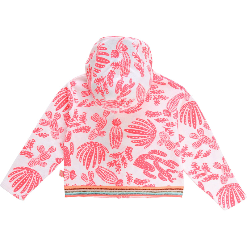 yoya, kids, billieblush, girls, casual, lightweight, summer, cotton, terry cloth, zip up, hoodie, sweat shirt