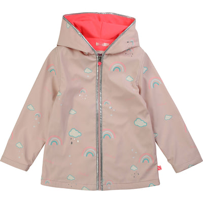 yoya, kids, girls, billieblush, casual, summer, color change, zip up, rain coat, jacket
