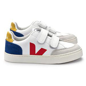 yoya kids veja leather velcro sneakers white summer casual spring double velcro closures shoes