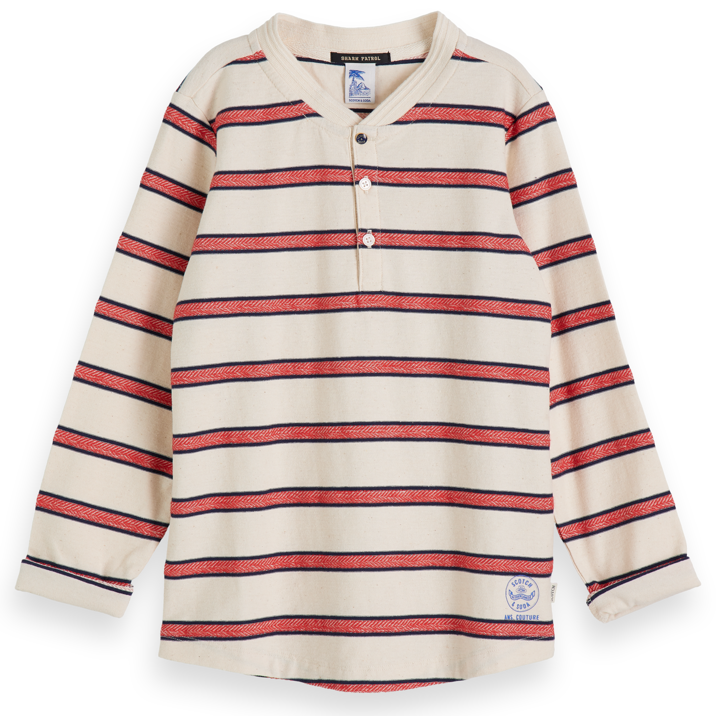 yoya, kids, boys, scotch shrunk, summer, lightweight, long-sleeved, henley shirt