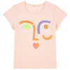 yoya kids billieblush abstract face t-shirt short sleeve summer casual