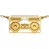 100% gumdrop boombox necklace