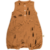 red caribou ducks & tracks basic romper