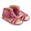 tip toey joey swoopy fringe sandals