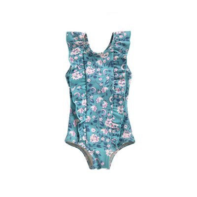 yoya, kids, girl, louise misha, summer, ruffled, floral print, one piece, sum, bathing suit