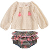 yoya kids childrens louise misha caimite and baracoa baby set tassels ruffled bottom boho long sleeve top summer spring formal casual
