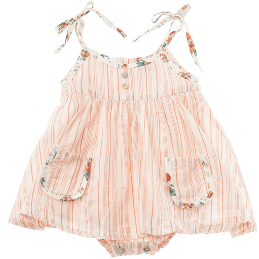 tocoto vintage striped strappy baby dress