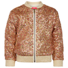 yoya kids childrens le big millie jacket glitter sequins zipped spring summer casual girls
