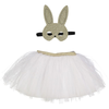 obi obi dots bunny mask and tutu dress-up set