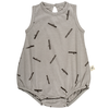 red caribou timber baggy onesie