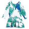 mini rodini peacock frill dress