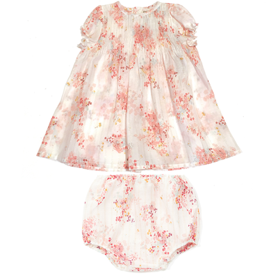 yoya, kids, baby, girls, lightweight, casual, summer, floral print, swing top, bloomers, outfit set