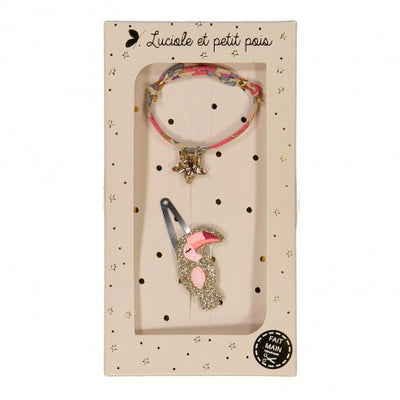 luciole et petit pois hair clip and bracelet set (more colors)