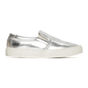 akid liv slip-on silver sneakers