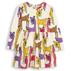 mini rodini roe deer long sleeve baby dress