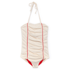yoya kids and baby little creative factory kyoto baby bathing suit summer swim off-white red lines