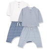 yoya kids childrens baby boy girl casual summer henley harem pant lounge outfit set