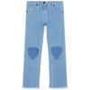 yoya kids childrens bonton leather pocket jeans denim heart jeans casual