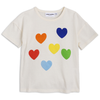 mini rodini rainbow love t-shirt