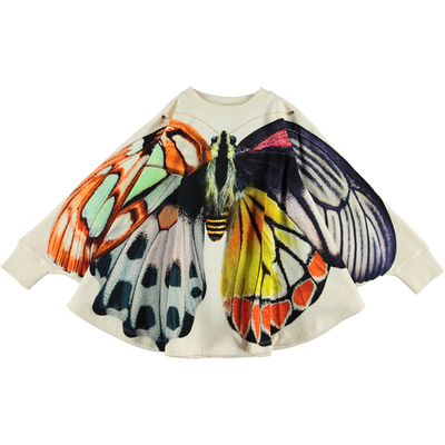 yoya, kids, girls, molo, casual, lounge, graphic printed, crewneck, cape sweatshirt