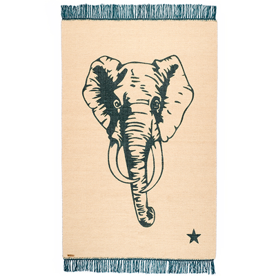 elephant/beige/blue