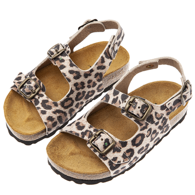 yoya, kids, girls, tocoto vintage, summer, casual, animal print, buckle, ankle strap, sandals, shoes