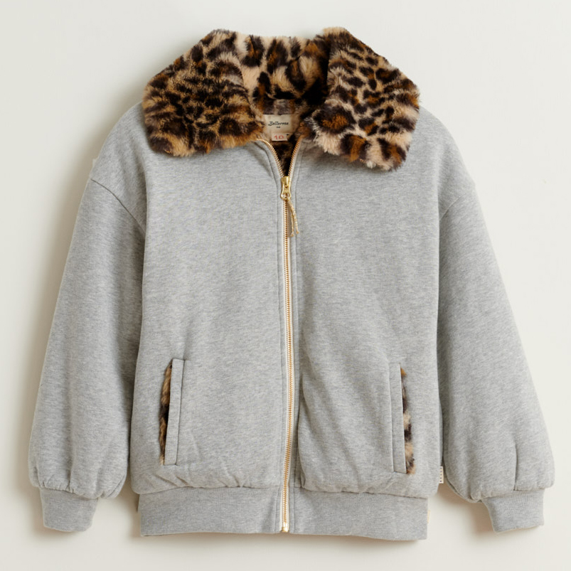 bellerose brooke leopard trim sweatshirt