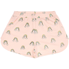 yoya kids soft gallery girls pink shorts with printed rainbow clouds lounge casual
