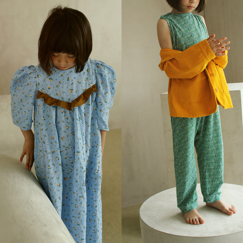 yoya, kids, girls, tambere, summer, lightweight, puff sleeve, maxi, prairie dress