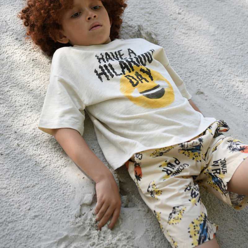 yoya, kids, boys, girls, hundred pieces, casual, summer, graphic print, slogan, crewneck tshirt